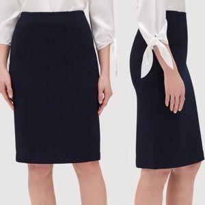 Layfeyette 148 New York black pencil skirt wool